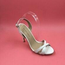 Zapatos Mujer 2016 Weiß Braut Hochzeit Schuhe Schnalle Chaussure Femme Alias Mujer Sandalia Feminina Alias Zapatos