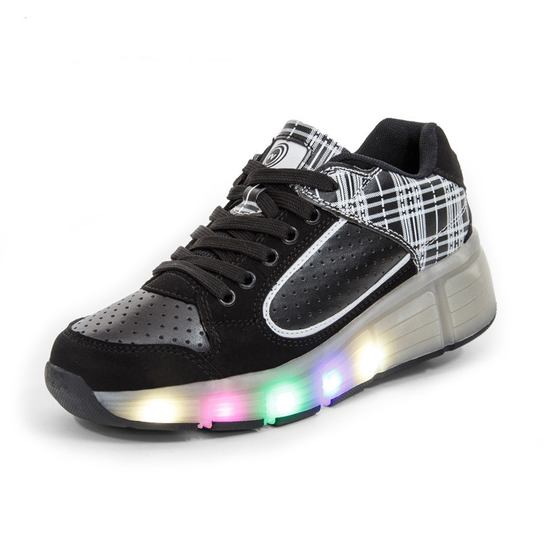 Led Flashing Lights Children shoes Sneakers sapatos Kids 2017 Shoe sapatos for Boys Girls Zapatillas Con Ruedas children roller sneaker with one wheel led lighted flashing roller skates kids boy girl shoes zapatillas con ruedas