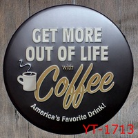 30X30CM Get More Coffee Vintage Home Decor Tin Sign For Wall Decor Metal Sign Vintage Art