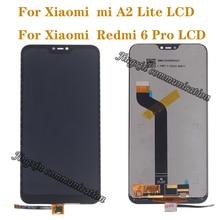 عرض جديد ل شاومي Mi A2 لايت LCD تعمل باللمس محول الأرقام ل شاومي Redmi 6 برو عرض استبدال إصلاح أجزاء
