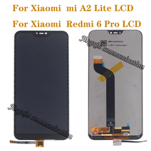 Yeni ekran için Xiaomi Mi A2 Lite LCD dokunmatik ekran digitizer Xiaomi Redmi 6 Pro için ekran yedek parça tamir