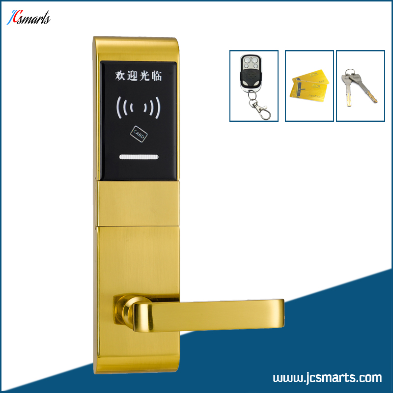 Apartment RFID door lock remote controller smart lock with mechanical keys my apartment