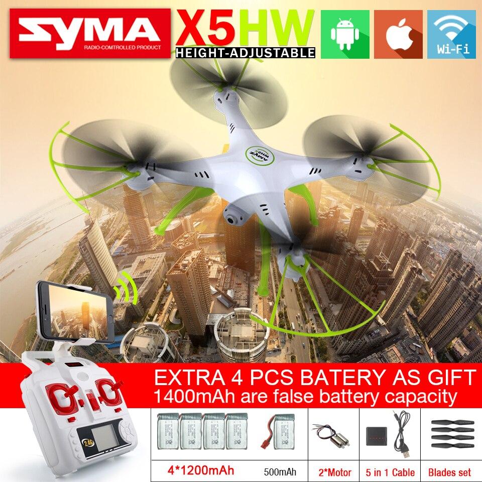 SYMA X5HW & X5HW-1 FPV RC Quadcopter Drohne mit Kamera WiFi 2,4G 6-achsen RTF Hover RC Hubschrauber mit 5 Batterie VS X5SW
