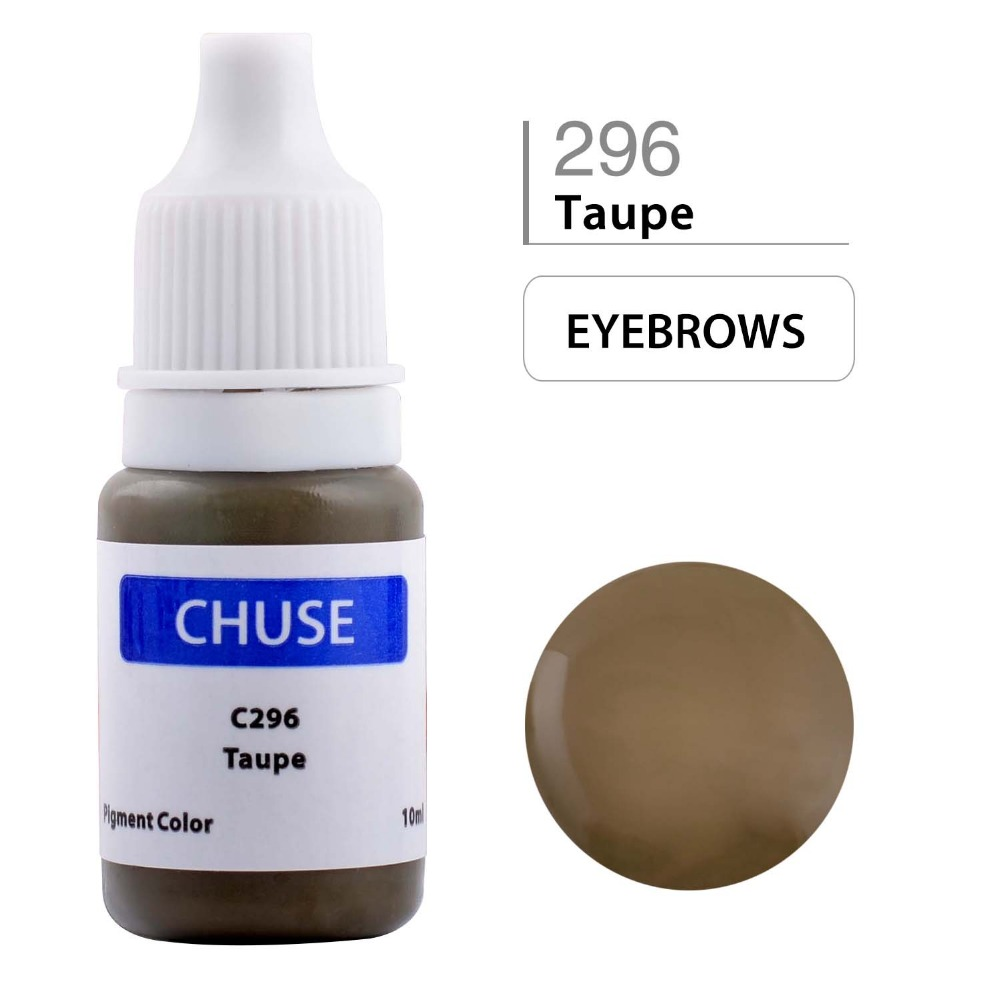 CHUSE Permanent Makeup Ink Eyeliner Tattoo Bläck Set Ögonbryn Microblading Pigment Professionell Micro Encre En Levre 10ML Taupe C296