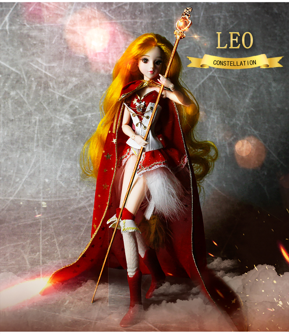 MMGirl 12 constellations Leo like the BJD Blyth doll 1/6 30cm red dress noble new set of toys gifts