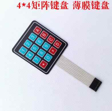 4*4 Matrix Array/Matrix Keyboard 16 Kunci Membran Beralih Keypad untuk arduino 4X4 Matrix Keyboard