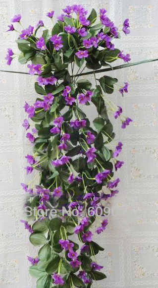 80cm 31 Artificial Silk Violet Flower Vine Wall Hanging Orchid Ivy Garland Plant Wedding