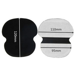 100Pcs Black Summer Underarm Absorbing Sweat Deodorant Armpit Antiperspirant Disposable Pads Dress Clothing Shield Perspiration