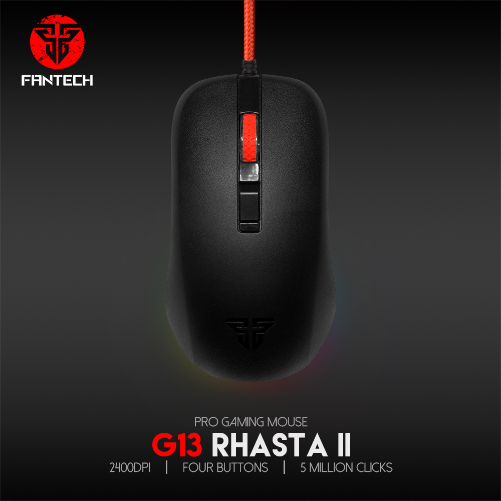 Fantech G13 DPI 800-2400 Professional Wired Gaming Mouse USB For PC Laptop Pro PC Computer Office image