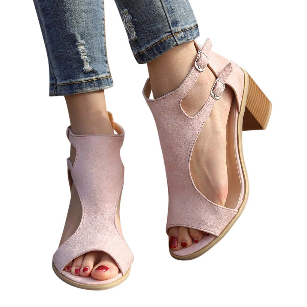 MUQGEW 209 Newest Fashion ladies summer peep toe Women Sandals Fashion Fish Mouth Hollow Out Roma Shoes 35-43 Plus Size #27 流水 盆 養魚