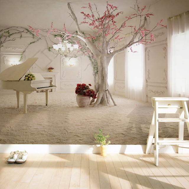 Moderne Kunst Klavier Baum Zweig Foto Tapete Esszimmer Wohnzimmer