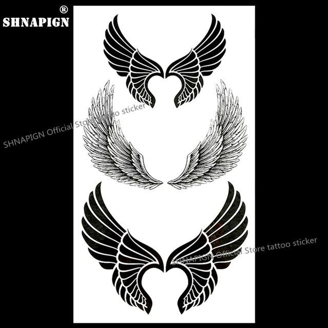 Shnapign Sexy Skrzydła Anioła Tymczasowe Tatuaż Sztuki Ciała Arm