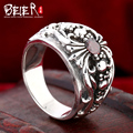 Beier 925 silver sterling jewelry 2015 high quality the fine pattern with Zircon ring wedding ring   D1189