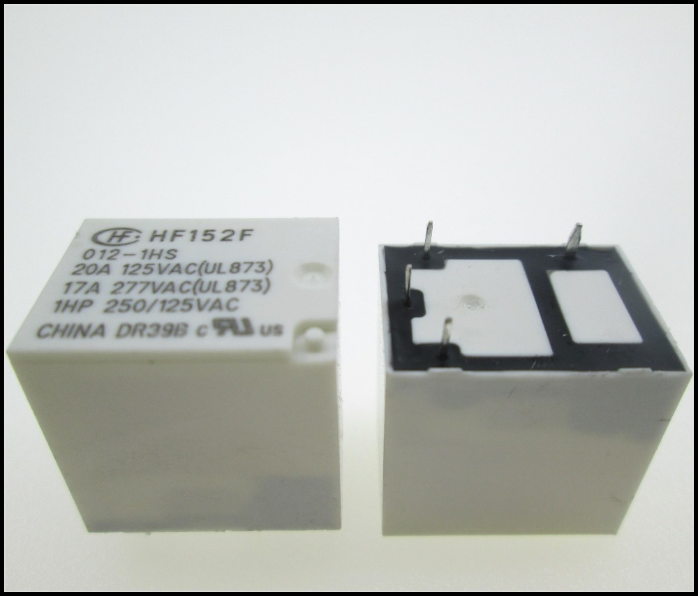 HOT NEW relay HF152F-012-1HS HF152F-012-1HS-12VDC HF152F 012-1HS HF152F 012-1HS-12VDC 12VDC DC12V 12V 20A 125VAC 17A 277VAC 4PIN 10pcs lot hfkw 012 1zw hfkw 012 hfkw good qualtity hot sell free shipping buy it direct