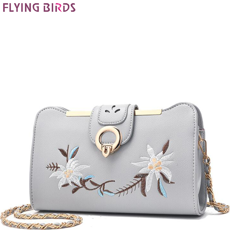 FLYING BIRDS flower women bag for Women messenger Bags girls chain designer handbag small shoulder bag summer bolsas A1120fb lacattura small bag women messenger bags split leather handbag lady tassels chain shoulder bag crossbody for girls summer colors