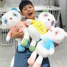 Hot 1pc 30cm-60cm Lovely Colorful Panda Stuffed Plush Toy Soft Cute Animal Dolls for Kids Baby Children Kawaii Gift Pillow Decor
