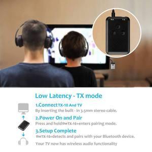 Image 5 - Adaptador Bluetooth 2 en 1, estéreo, 3,5mm, receptor y transmisor de música inalámbrico, adaptador para auriculares de coche, teléfono móvil ESTÉREO