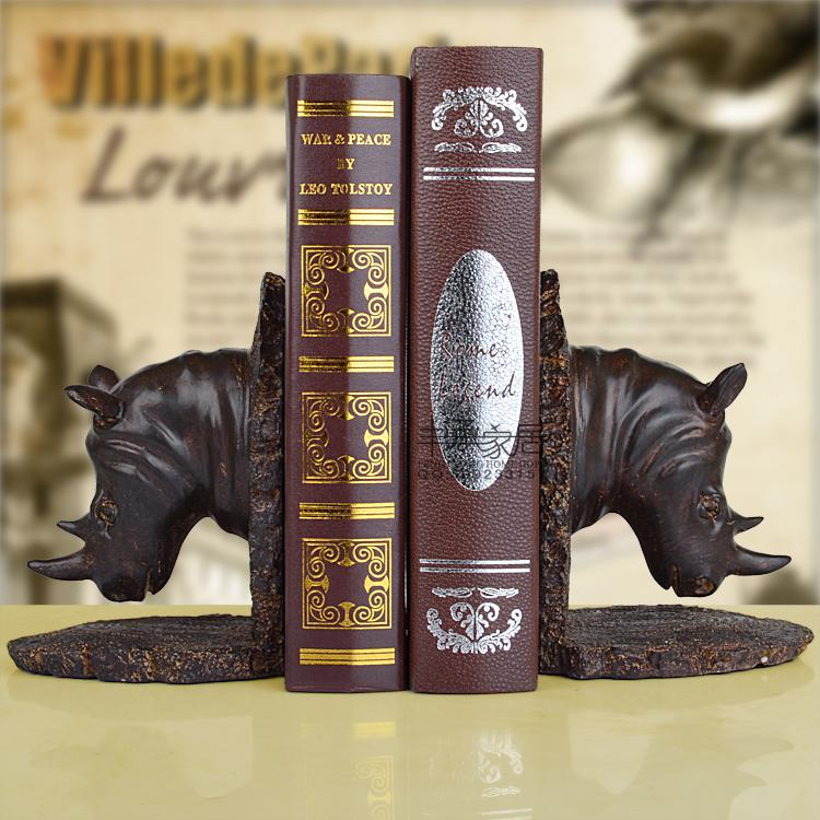 все цены на Fashion vintage soft technology decoration rhino resin bookend bookend book end accessories bookends