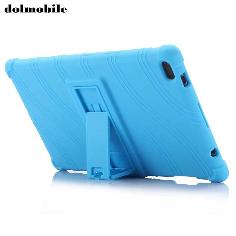 dolmobile Soft Silicon TPU Back Cover with Stand for Lenovo TAB 4 8 TB-8504X TB-8504N TB-8504F TB-8504 Tablet Case + Stylus Pen new x line soft clear tpu case gel back cover for samsung galaxy tab s2 s 2 ii sii 8 0 tablet case t715 t710 t715c silicon case
