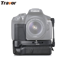 Travor battery holder grip para canon Rebel T3 1100d 1200d 1300d T5 T6 EOS Kiss X50 DSLR cámara funciona con Batería LP-E10