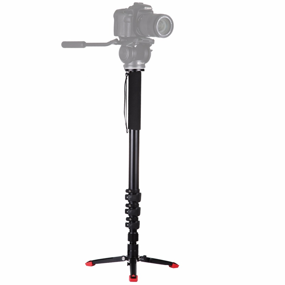 PULUZ Four-Section Telescoping Aluminum-magnesium Alloy Self-Standing Monopod with Support Base Bracket макс фрай сновидения ехо