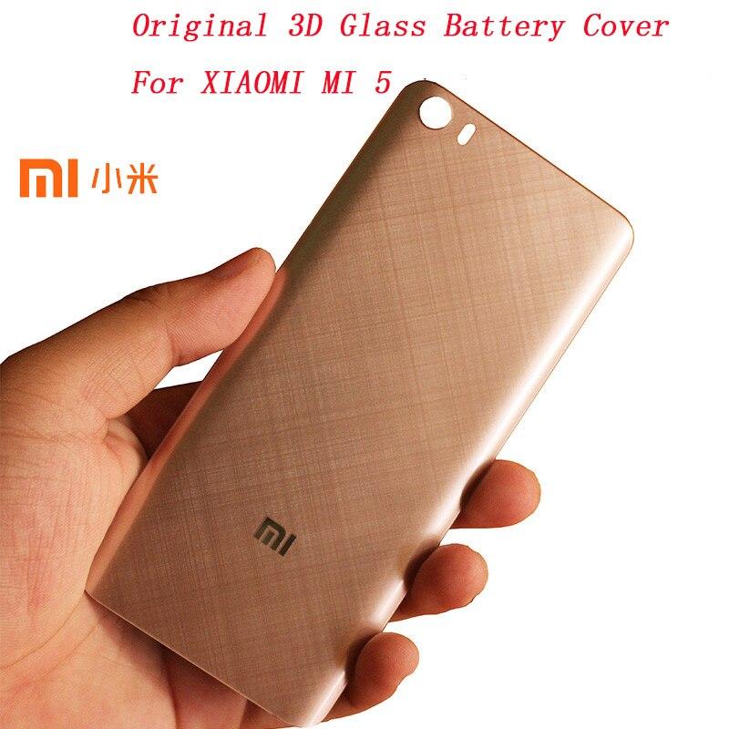 bilder für Original XIAOMI MI 5 3D Glas Ersatz Batteriedeckel, glatte Haut Gehäuse Hintertür Hard case