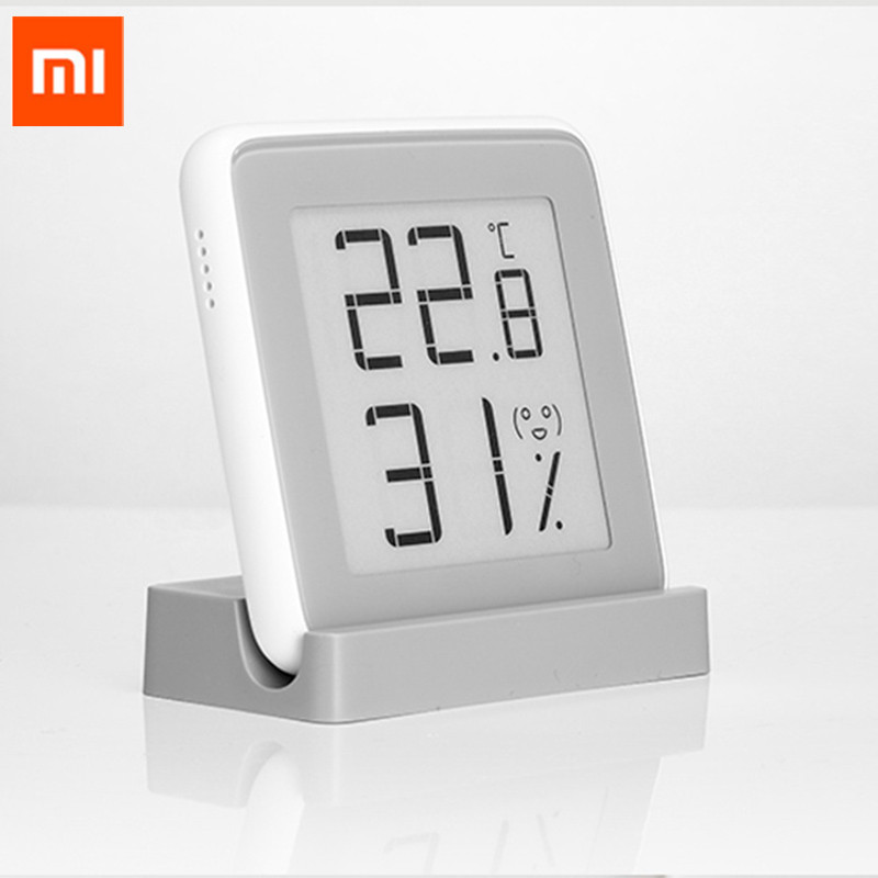 Xiaomi MiaoMiaoCe E-Link INK Screen Digital Moisture Meter High-Precision Thermometer Temperature Humidity Sensor LCD Screen # temperature and humidity sensor protective shell sht10 protective sleeve sht20 flue cured tobacco high humidity