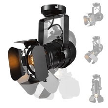 Luz de Techo de la vendimia Industrial de Cuatro Hojas Negro Hierro CL134 AdjustableLight para Sala de estar Luz de Techo de Iluminación Envío Gratis