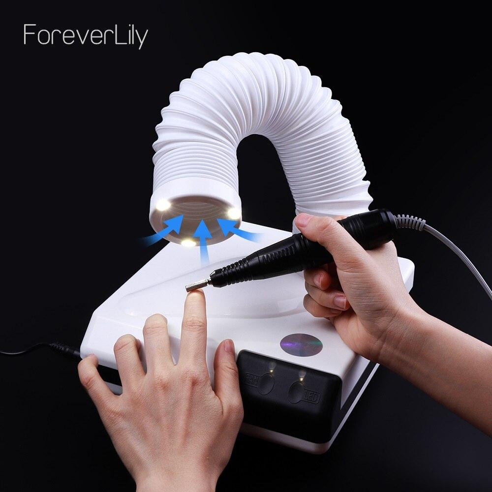 60 W nuovo forte collettore di polveri del chiodo polvere di aspirazione cleaner retrattile gomito design fan nail aspirapolvere aspirapolvere