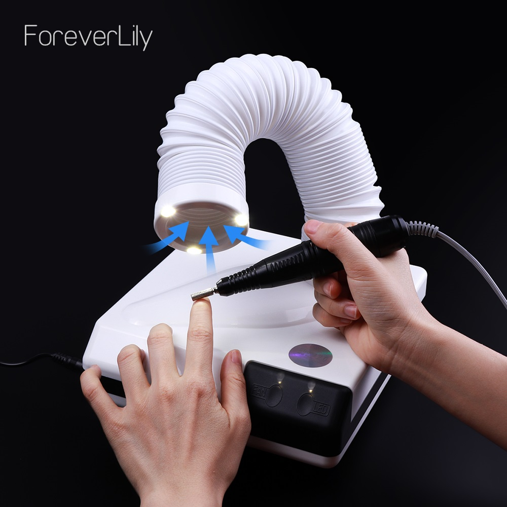 60W new strong nail dust collector suction dust cleaner retractable elbow design fan nail vacuum cleaner vacuum cleaner