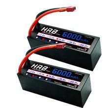 2 unidades hrb rc lipo bateria 4S 14.8v 6000mah 50c explosão 100c hrad caso deans plug para rc buggy rastreador caminhão monstro barco