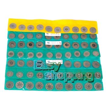 70pcs Dental Diamond Polishing Wheel Saw Disc Rotary Tool+20pcs Shank Mandrel +Dental 60 Hole Needle Box