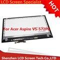 """Nuevo de alta calidad original 15.6 """"pantalla táctil lcd asamblea de pantalla para acer aspire v5-572 v5-572p v5-572pg + digitalizador"""