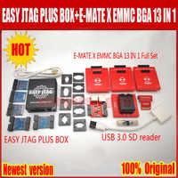 2019 Newest  Original Easy jtag plus box + E-MATE X Emate box EMMC BGA 13 IN 1 ,Free Shipping
