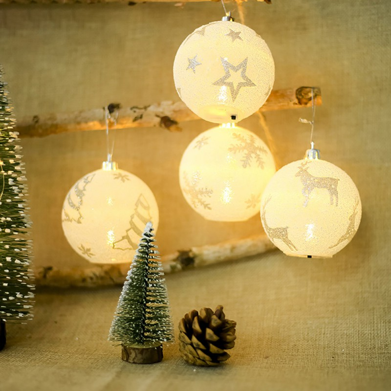 Led Light Balls Snowflake Elk Star Ornaments Merry Christmas Tree Decoration Chrismas Party Bedroom Outdoor Indoor Decor 2018