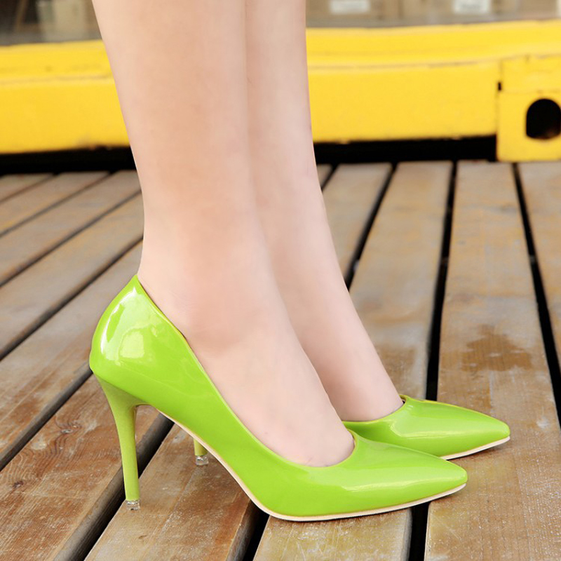 Spring 2016 New Fashion Pointed Toe font b Woman b font Pumps Shallow Mouth Side Of