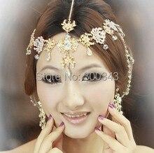 12pcs/lot Wedding Bridal cocktail party Jewelry crystal pearl headpiece tassel floral dance headdress hair accessories jt019