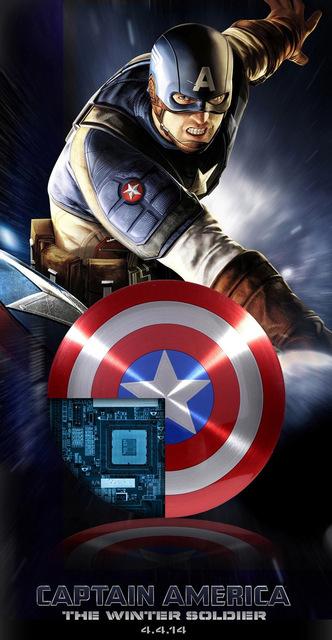 Avengers Captain America Shield Power Bank Charger USB 6800mAh