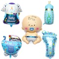 5pcs Cute 60cm Baby Boy Baby Balloon Shower Balls Helium Foil Balloons Birthday Party Festa Decorations Baby Funny Toys For Kids