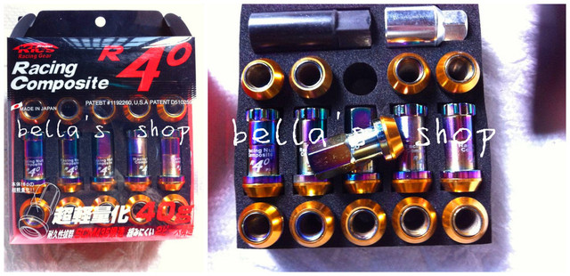 kics project  R40 racing composite racing gear nuts free shipping M12*1.5/M12*1.25