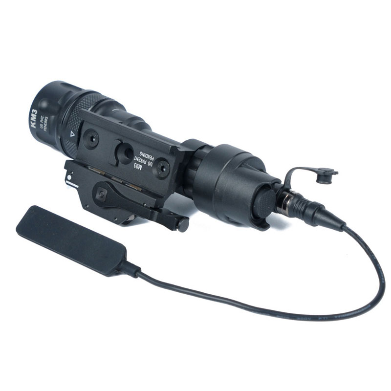 M952V IR Scout Tactical Weapon Light LED White Light Output Waterproof Remote Switch Pressure Flashlight QD Mount Picatinny Rail - 5