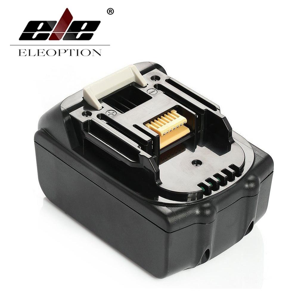 ELEOPTION NEW 3000mAh 3.0Ah 18 VOLT Li-Ion Power Tool Battery for Makita BL1830 Bl1815 194230-4 LXT400 14 4v 3000mah power tool battery li ion for metabo 6 25482 bsz 14 4 impuls li bsz14 4
