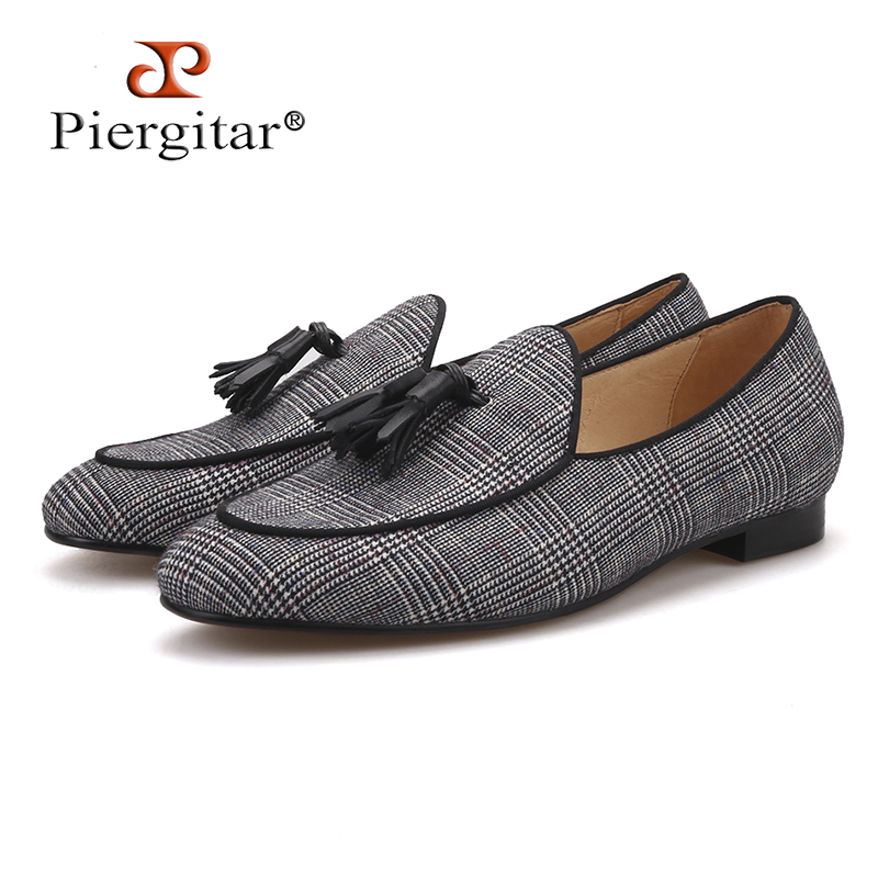Pierigtar 2018 new design Handmade men s loafers with leather tassel and leather insole Fashion party