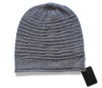 specials 100%goat cashmere wrinkles knit women fashion beanie hats winter bonnets grey black 2color EU/S(54 56cm)