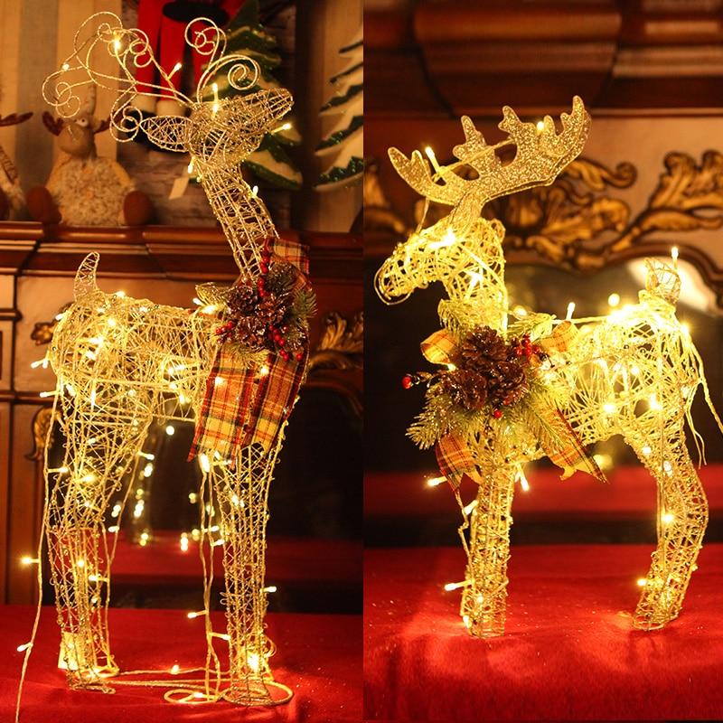 1ff089c03742a2 Hot Selling Nieuwe 2019 Lijn Licht Herten Kerstboom Artikelen voor Ijzer  Pentagram Sneeuwpop Creative Led Verlichting