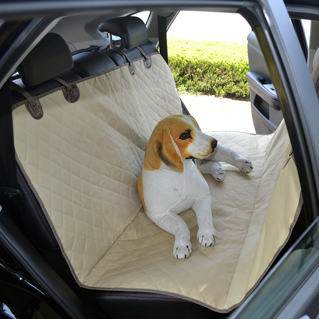 High Quality Oxford Pet Car Seat Cover Safty Belt Hammock Rear Back Protector Outdoor Camping
