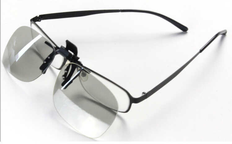 5f452f08062 ... Clip-on 3D Glasses Polarized for nearsighted people watching passive 3D  TVs and RealD 3D ...