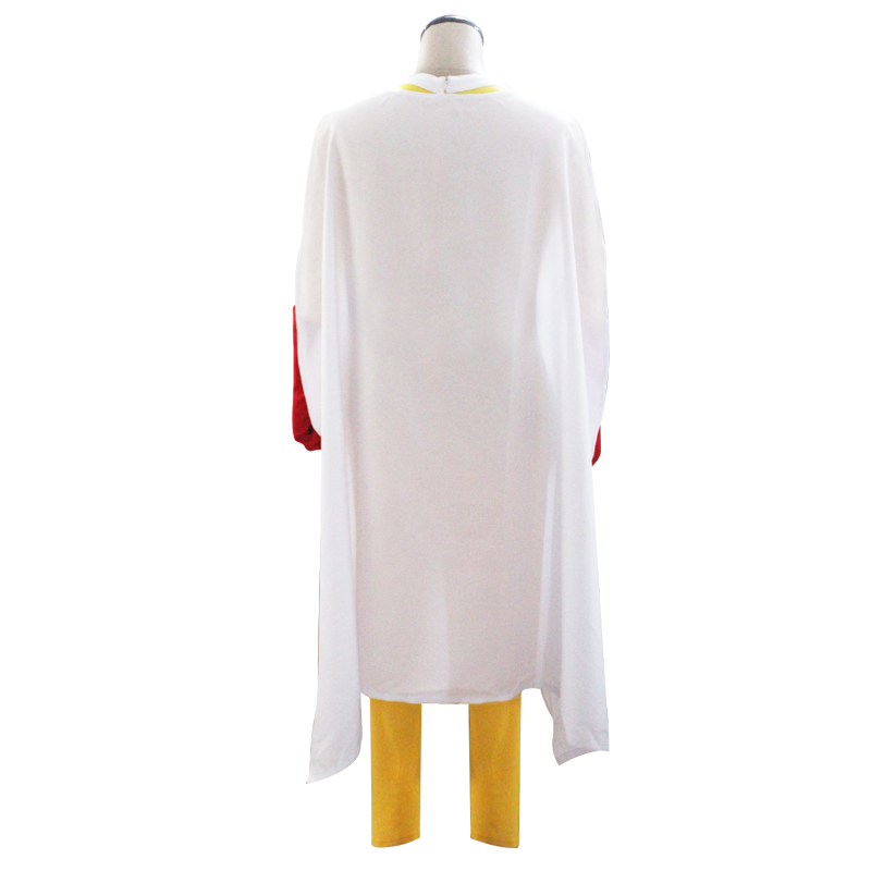 Image 2 - Coshome One Punch Man Cosplay Costumes Saitama Cosplay Jumosuits+Cloak+Belt+Hat+Gloves Full Set for Halloween Party-in Anime Costumes from Novelty & Special Use