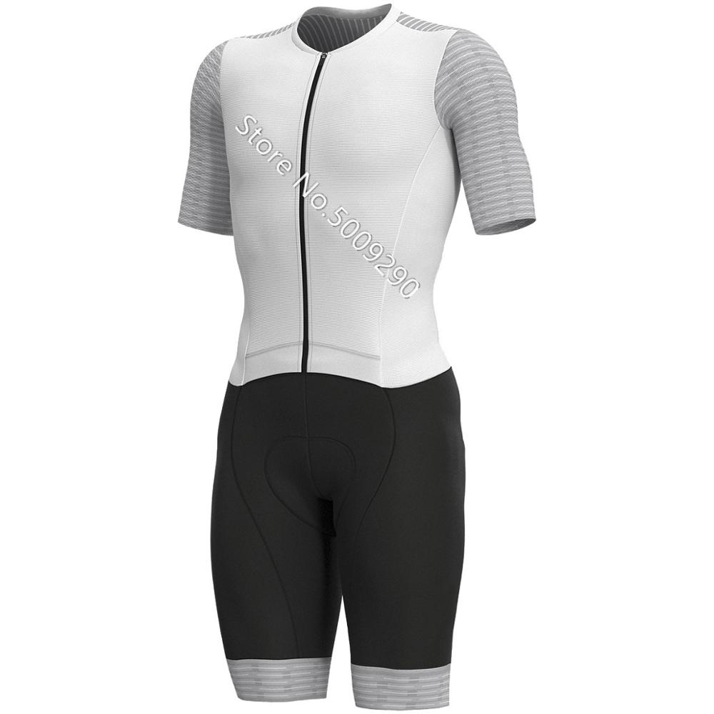 Black white Pro Speedsuit Cycling Skinsuit Men's Triathlon Sports Clothing Cycling Clothing Set Ropa De Ciclismo Maillot