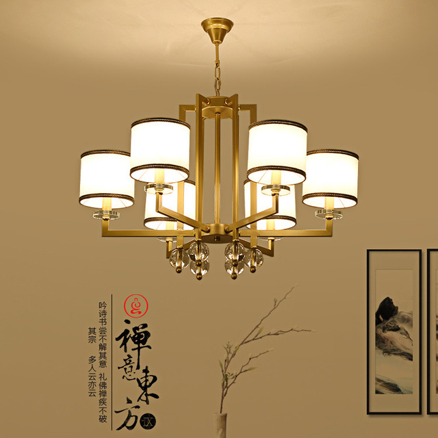 Lamps The New Chinese Modern Lamp Chandelier Dining Room Retro Iron Bedroom Study Restaurants Clubs